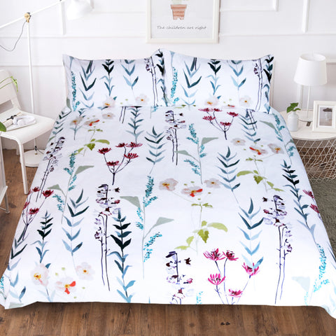 Lavender Tulip Flowers Plant Duvet Covers Bedding Sets