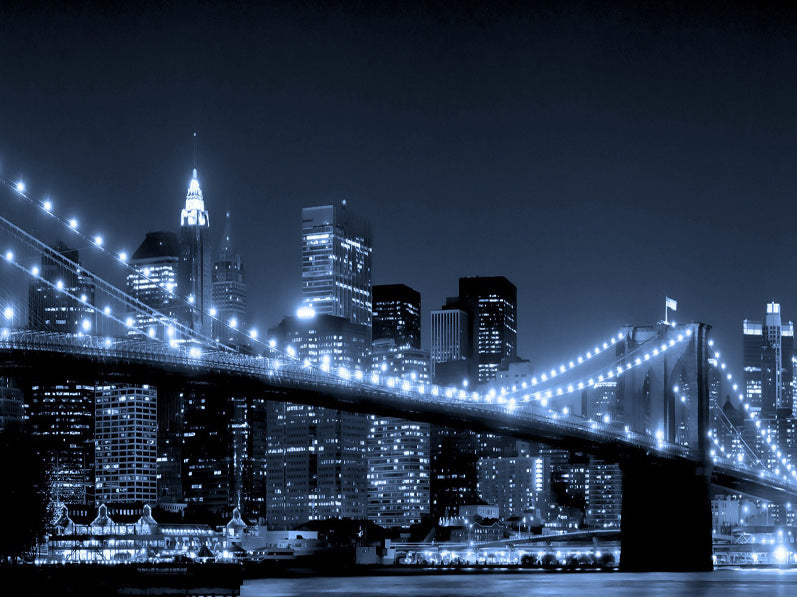 New York City Night View Brooklyn Bridge Diamond Painting Art Kits