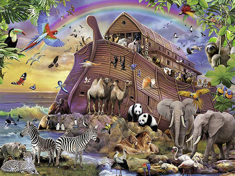 Noah Ark Boat Animals Diamond Painting Art