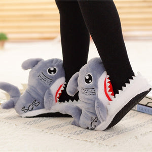 Suck Off Sharks Slippers Booties Plush House Shoes