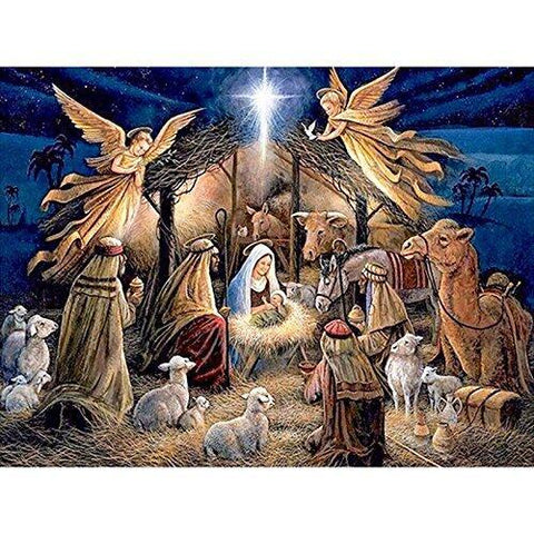 The Birth of Jesus Nativity Story Bible Diamond Painting Art Kits