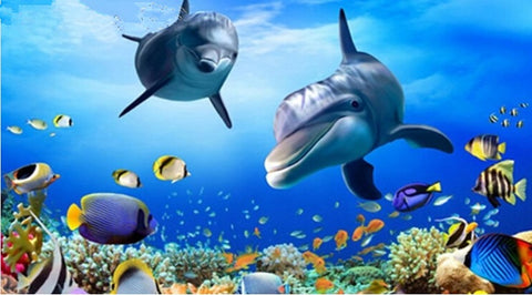 Undersea Coral Reef fish Dolphin Diamond Painting Kits