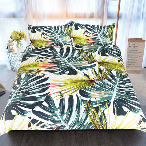 Vintage Tropical Banana Leaf Duvet Covers Bedding Sets