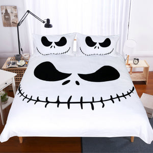 White and Black Jack Skellington Nightmare before Christmas Duvet Covers Bedding Sets