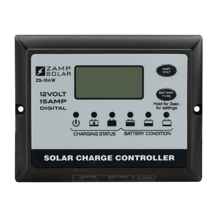 15 Amp Zamp All-Weather Solar Controller for BunduTop - Outback Tents