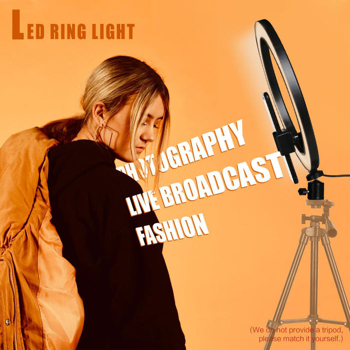 "AIXPI 10"" LED Ring Light with Tripod Stand & Phone Holder for Live Streaming & YouTube Video"