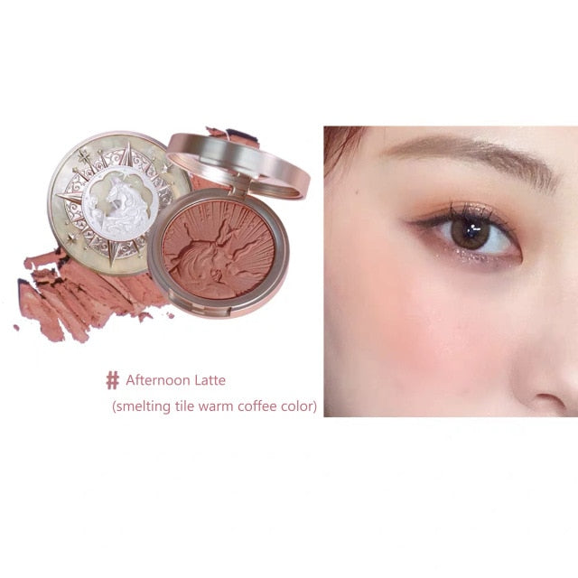 New Arrival Women Blush Palette Face Makeup Shimmer Matte Pigment Long-lasting Waterproof Natural Nude Makeup Brightening