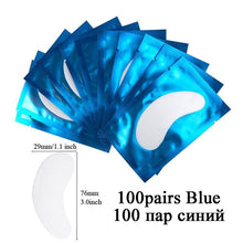 Load image into Gallery viewer, 100pairs Eyelash Extension Paper Patches Grafted Eye Stickers 7 Color Eyelash Under Eye Pads Eye Paper Patches Tips Sticker