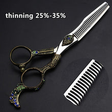 Load image into Gallery viewer, Sharonds Retro Hairdressing Scissors 6 7 inch Flat Cut Seamless Thinning Scissors Hair Salon Hairdresser Special Haircut Set