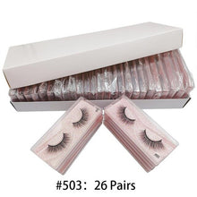 Load image into Gallery viewer, Wholesale Eyelashes 26/3D Mink lashes Beauty Makeup Natural Mink Eyelashes Makeup False Woman makeup Tools Lasheslash vendors