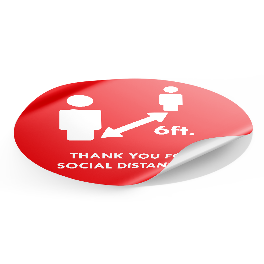 Social Distancing Floor Sticker