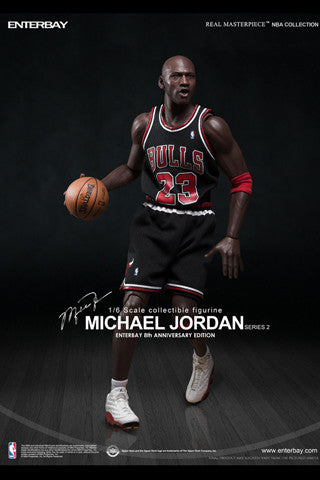 info for a9e31 3b6af (RM-1055) Real Masterpiece: NBA Collection - Michael Jordan 1/6 Black  Jersey Figurine (LIMITED EDITION)