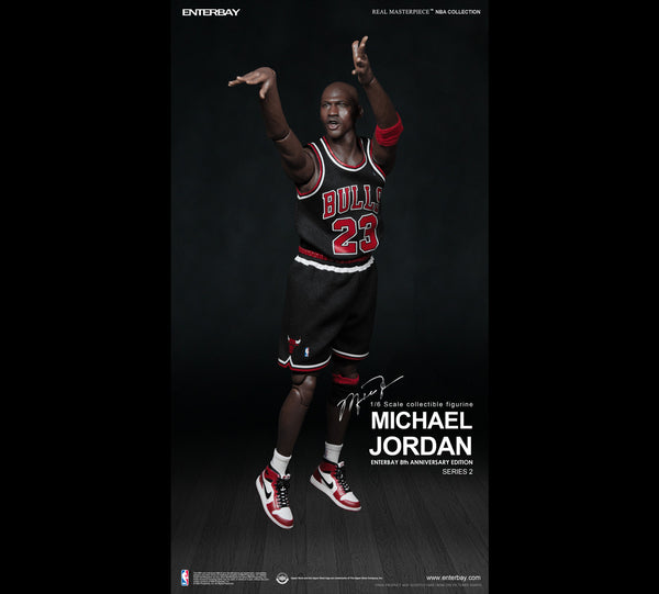 (RM-1055) Real Masterpiece: NBA Collection - Michael Jordan 1/6 Black Jersey Figurine (LIMITED EDITION)