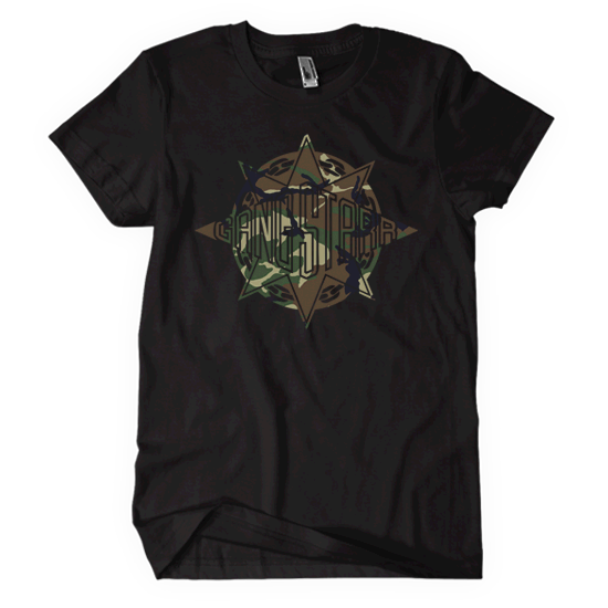 Gang Starr Abstract Camo Logo Tee
