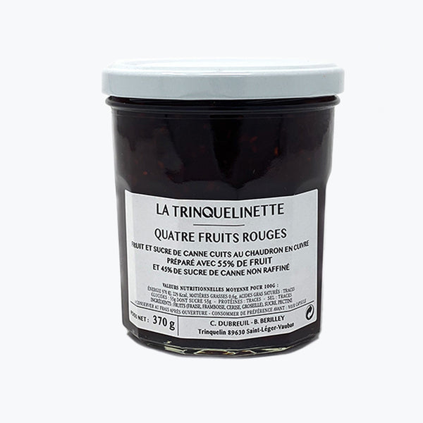 LA TRINQUELINETTE <br> FOUR RED FRUITS JAM