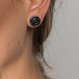 ROSE EARRINGS BLACK - thekingcreative event and bridal jewellery