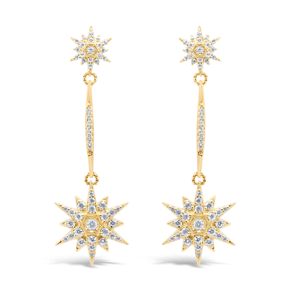 ARIANNA EARRINGS GOLD - thekingcreative event and bridal jewellery
