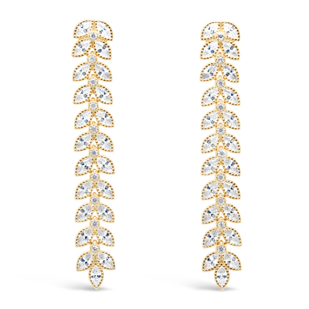 CHLOE EARRINGS GOLD - thekingcreative event and bridal jewellery