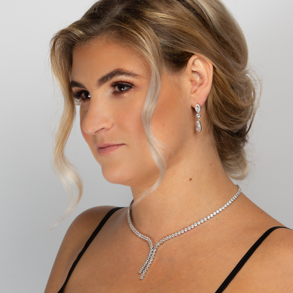 CAMILLA NECKLACE WHITE - thekingcreative event and bridal jewellery