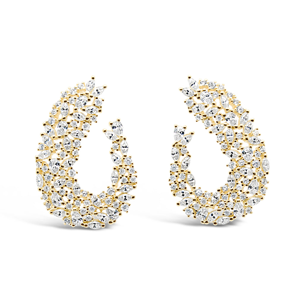 GEORGIA EARRINGS GOLD - thekingcreative event and bridal jewellery