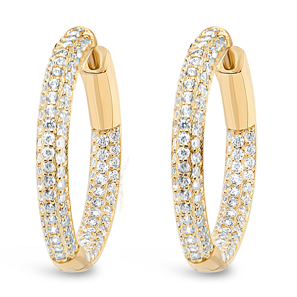 LULU HOOPS MEDIUM GOLD - thekingcreative event and bridal jewellery