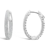 LILLY OVAL HOOPS WHITE - thekingcreative event and bridal jewellery