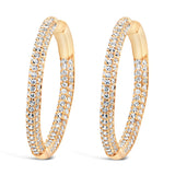 LULU HOOPS LARGE GOLD - thekingcreative event and bridal jewellery