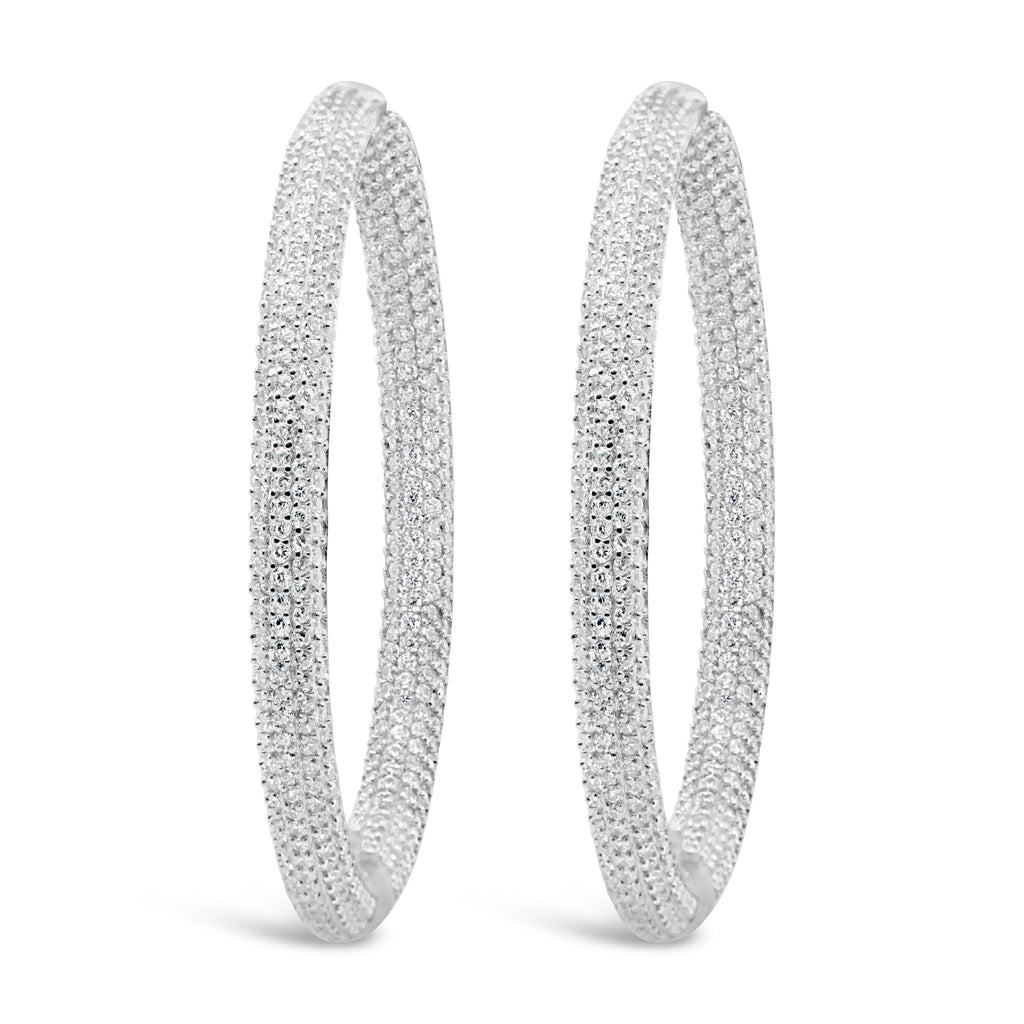 LOLITA HOOPS WHITE - thekingcreative event and bridal jewellery