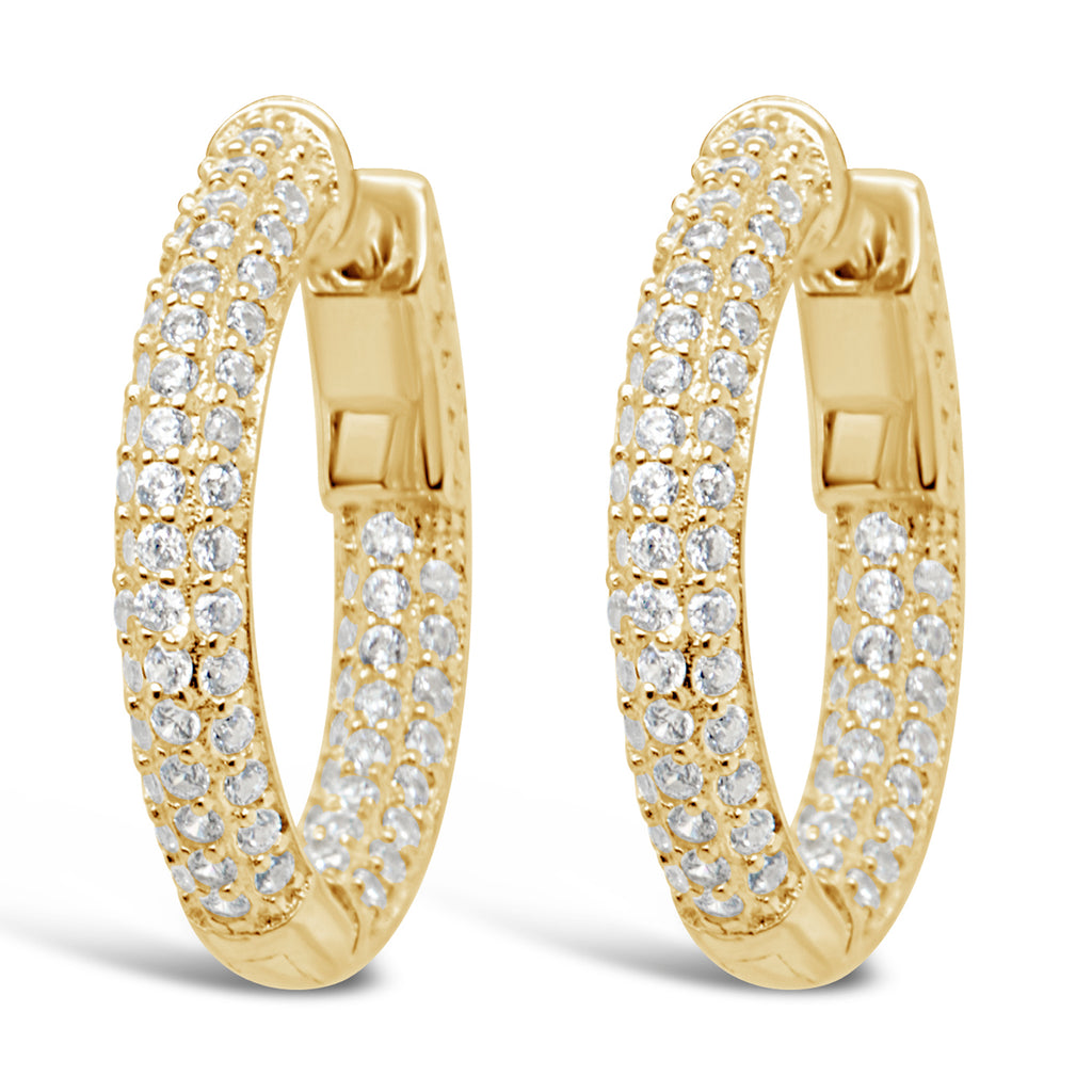 LULU HOOPS SMALL GOLD - thekingcreative event and bridal jewellery