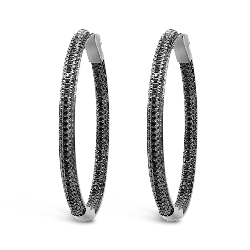 MADISON HOOPS BLACK - thekingcreative event and bridal jewellery