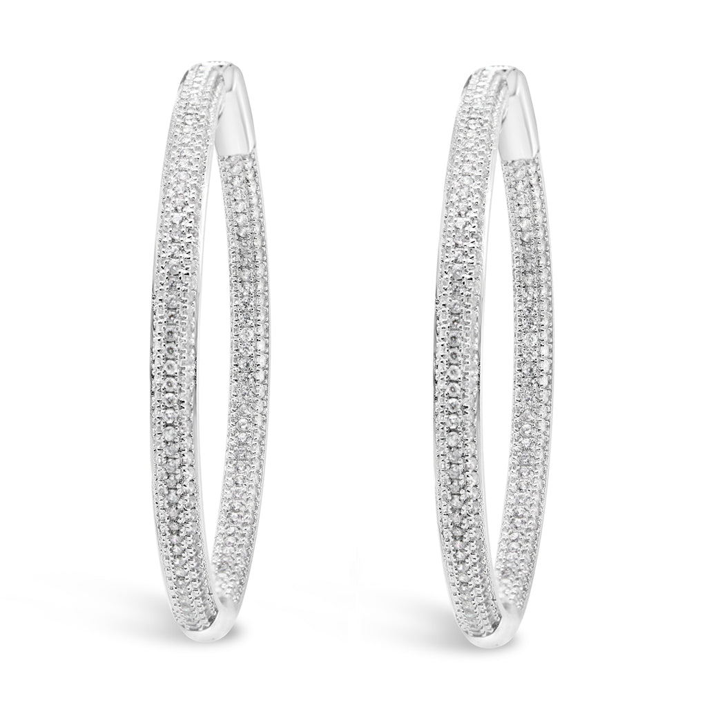 MADISON HOOPS WHITE - thekingcreative event and bridal jewellery