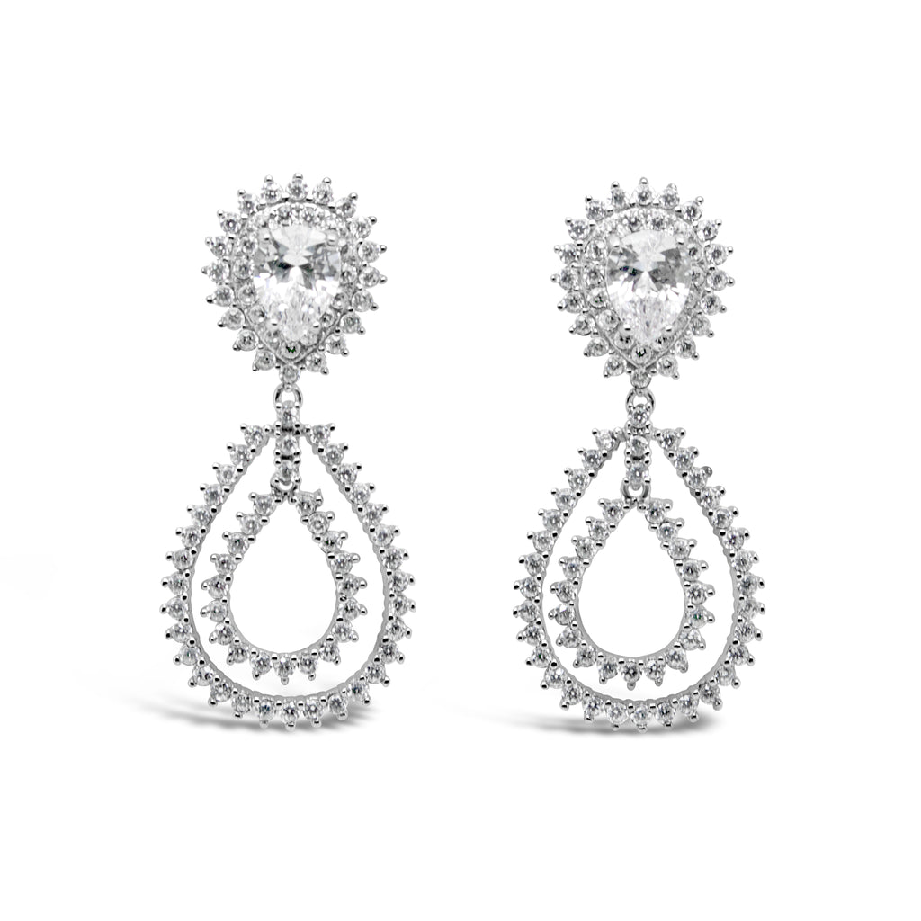 PENELOPE EARRINGS WHITE - thekingcreative event and bridal jewellery