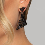 CLEOPATRA EARRINGS BLACK - thekingcreative event and bridal jewellery