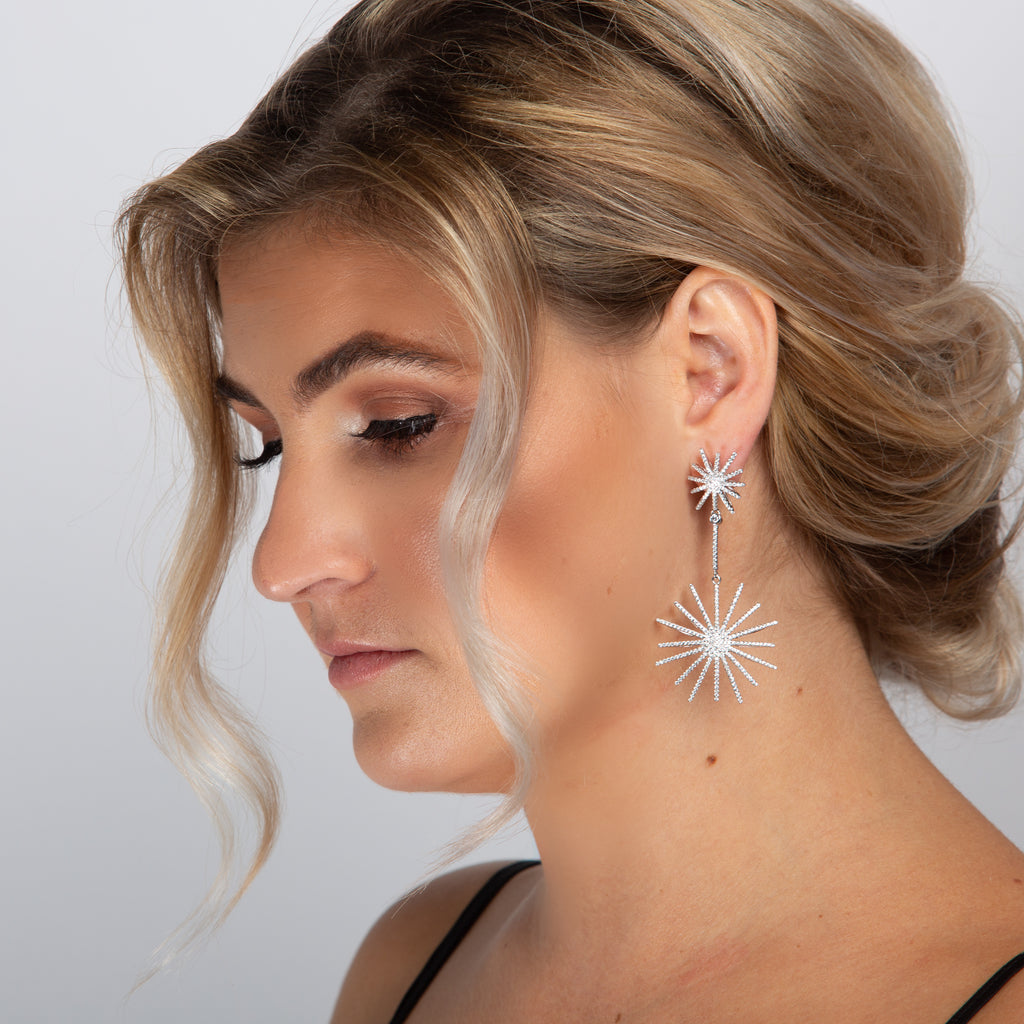 MIA EARRINGS WHITE - thekingcreative event and bridal jewellery