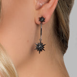 ARIANNA EARRINGS BLACK - thekingcreative event and bridal jewellery