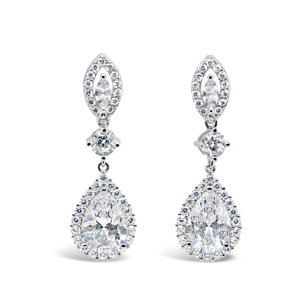 TIFFANY EARRINGS WHITE - thekingcreative event and bridal jewellery