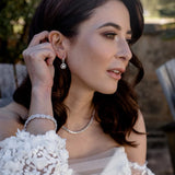 ISABELLA EARRINGS WHITE - thekingcreative event and bridal jewellery