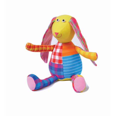 Soft Toy Patchwork  Rabbit(4557956055082)