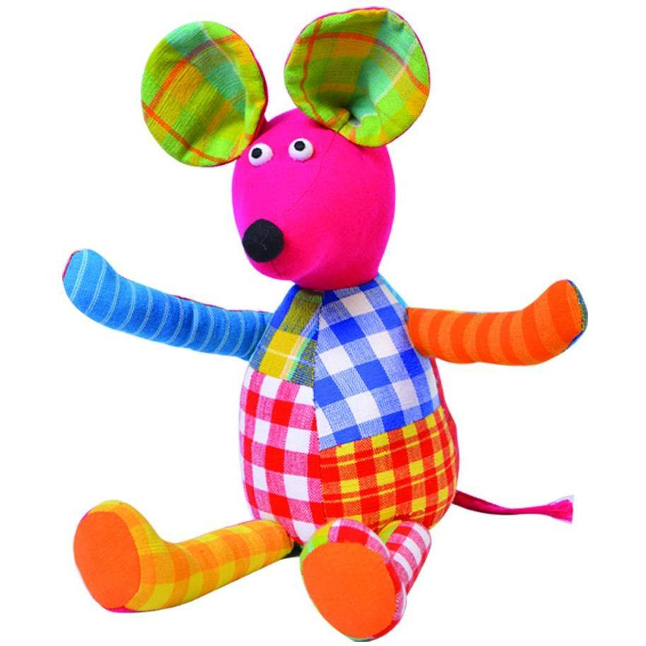 Soft Toy  Patchwork Mouse(4557935509546)