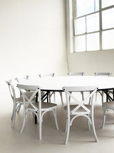 Load image into Gallery viewer, 10 Wooden Cross Back Chairs & 1 Round Table - The Setup