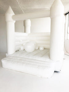 All White Jumping Castle 3m x 3m - The Setup