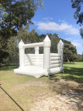 Load image into Gallery viewer, All White Jumping Castle 5m x 4m - The Setup
