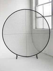 Circular Mesh Wall Black - The Setup
