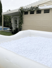 Load image into Gallery viewer, Inflatable White Ball Pit 4.5m Long - The Setup