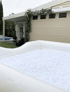 Inflatable White Ball Pit 4.5m Long - The Setup