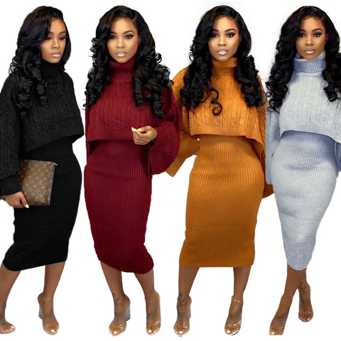 Rayanne Sweater Dress Two Piece Set