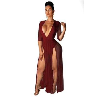 Bianca V-Neck Bodysuit Dress