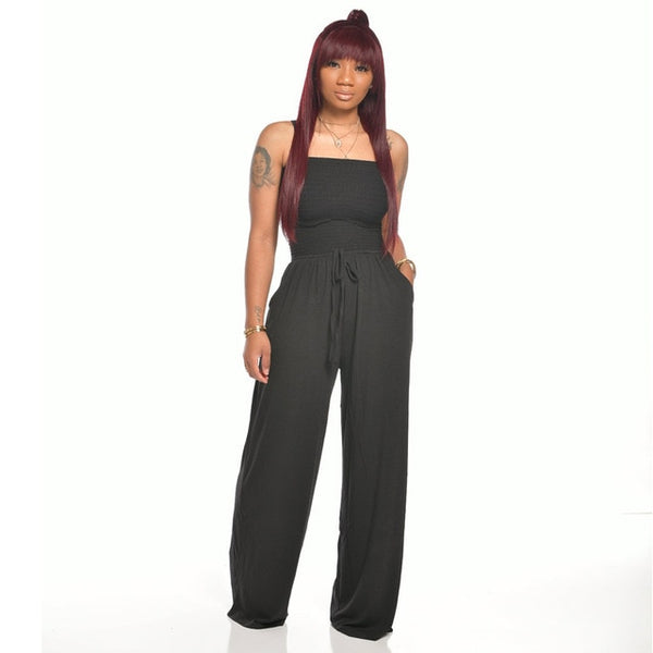 Tiffany Wide Leg Strapless Jumpsuit