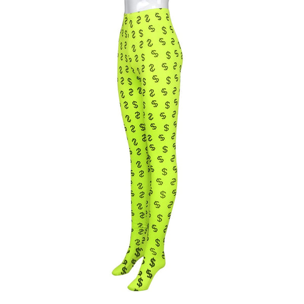 Lonnie Money Print Footed Leggings