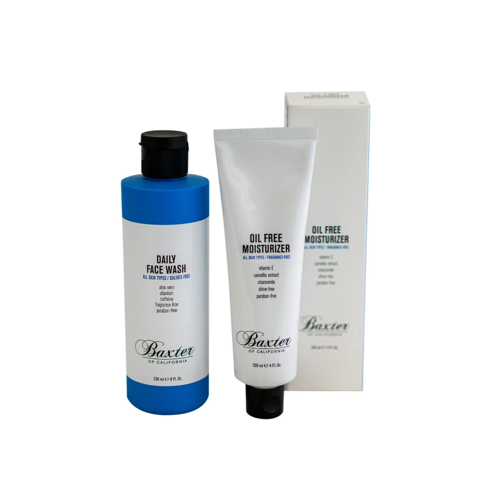 Baxter Daily Face Wash & Oil Free Moisturiser